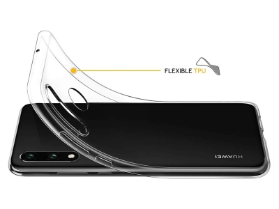 Силиконов гръб за Huawei P30 Lite, Прозрачен
