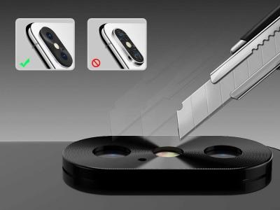 Алуминиев протектор Cover за iPhone XS MAX, Черен