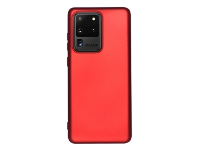 Силиконов Гръб Level за Samsung Galaxy S20 Ultra, Червен