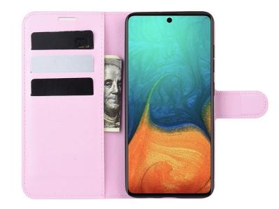 Калъф Тефтер Crazy Horse за Samsung Galaxy A71, Розов