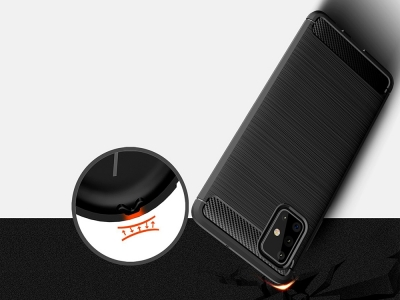 Силиконов гръб Carbon за Samsung Galaxy A71, Черен