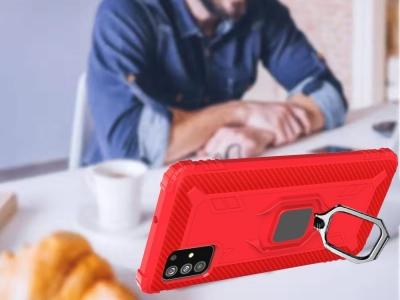 Удароустойчив Калъф с Поставка за Samsung Galaxy A51, Червен