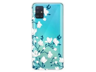 Силиконов Гръб за Samsung Galaxy A51, Цветя