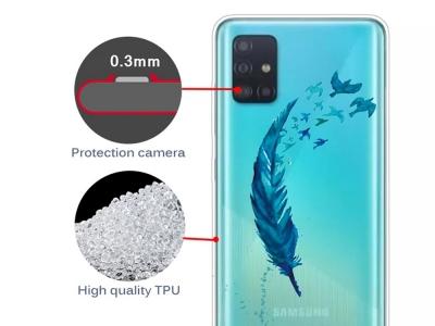 Силиконов Гръб за Samsung Galaxy A51 , Перо
