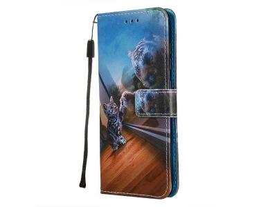 Калъф Тефтер за Samsung Galaxy A51 , Коте и Тигър