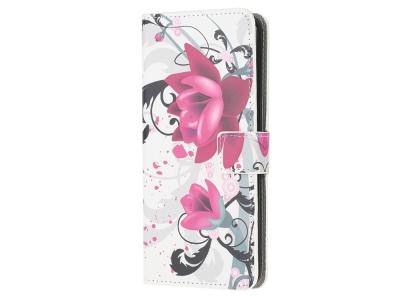 Калъф Тефтер за Samsung Galaxy A81 / Note 10 Lite / M60s, Розово Цвете