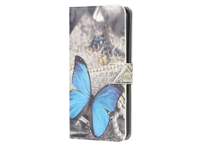 Калъф Тефтер за Samsung Galaxy A81 / Note 10 Lite / M60s, Синя Пеперуда