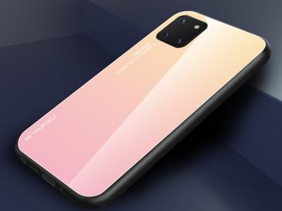 Стъклен Гръб Glass за Samsung Galaxy A81 / Note 10 lite, Златист / Розов