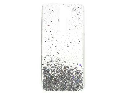Силиконов гръб Glitter за Xiaomi Redmi Note 8 Pro, Прозрачен