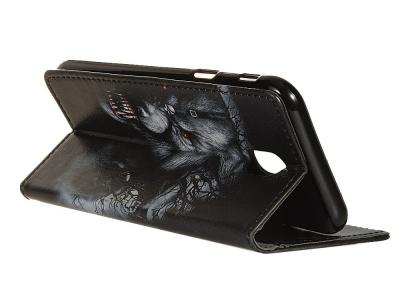 Калъф Тефтер за Nokia 2.3, Вълк