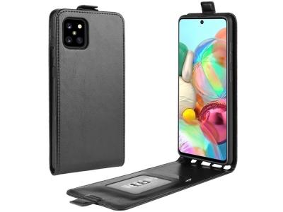 Калъф Тефтер Vertical за Samsung Galaxy A81 / Note 10 Lite, Черен
