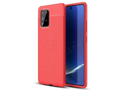 Силиконов гръб Litchi за Samsung Galaxy S10 Lite / Galaxy A91, Червен