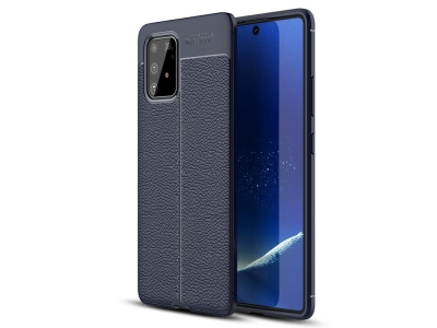 Силиконов гръб Litchi за Samsung Galaxy S10 Lite / Galaxy A91, Син