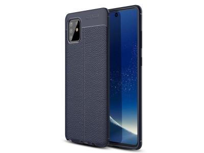 Силиконов гръб Litchi за Samsung Galaxy A81/Note 10 Lite, Син