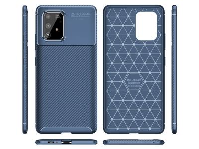 Силиконов гръб Beetle Carbon за Samsung Galaxy S10 Lite / Galaxy A91, Син