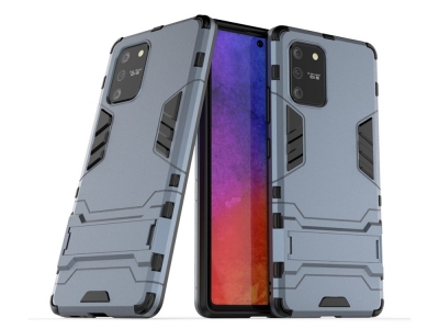 Удароустойчив гръб с Поставка за Samsung Galaxy S10 Lite / Galaxy A91, Сив