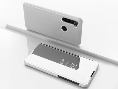 Калъф тефтер View Window Mirror за Xiaomi Redmi Note 8, Сребрист
