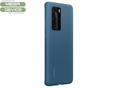 Оригинален силиконов калъф за Huawei P40 Pro, Син