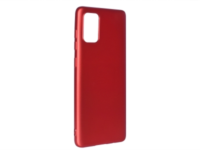Силиконов гръб Level за Samsung Galaxy A71, Червен