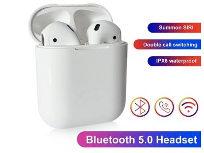 Bluetooth Слушалки TWS I13 wireless charger, Бял
