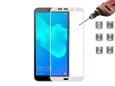 Стъклен протектор 3D Full за Huawei Y5 (2018), Бял