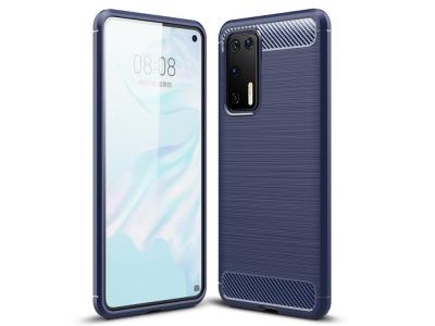 Силиконов гръб Carbon за Huawei P40, Син