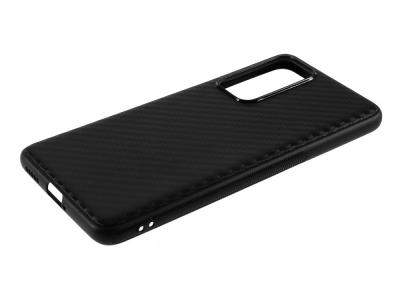 Силиконов гръб Carbon за Huawei P40, Черен