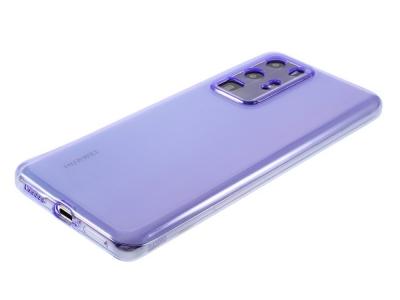 Силиконов гръб за Huawei P40 Pro, Прозрачен/ Лилав