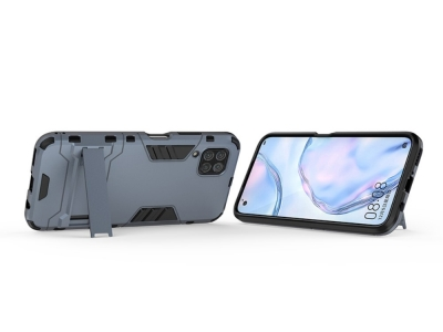 Удароустойчив гръб с Поставка за Huawei P40 Lite, Син