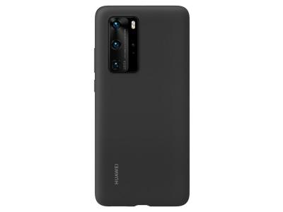Оригинален Силиконов Гръб за Huawei P40 Pro, Черен