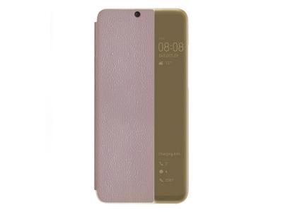 Калъф тефтер View Cover за Huawei P30 Lite / Nova 4e, Розов-Златист
