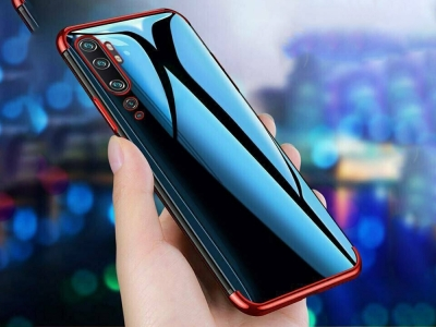 Силиконов Калъф с лайсна за Xiaomi Mi Note 10 Pro, Червен