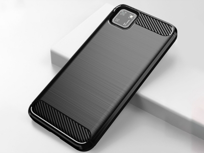 Силиконов гръб Carbon за Huawei Y5P (2020), Черен