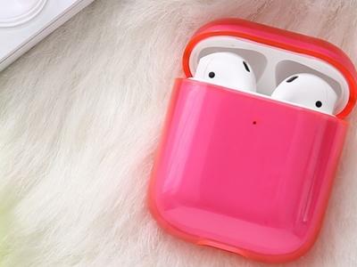 Пластмасов калъф за Apple AirPods, Розов