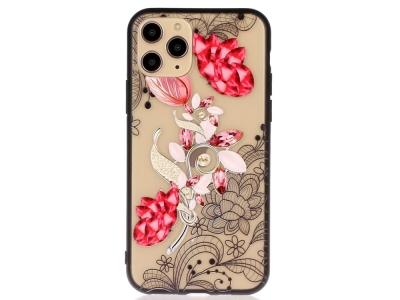 Удароустойчив гръб Lace Flower за Iphone 11 Pro, Рубини