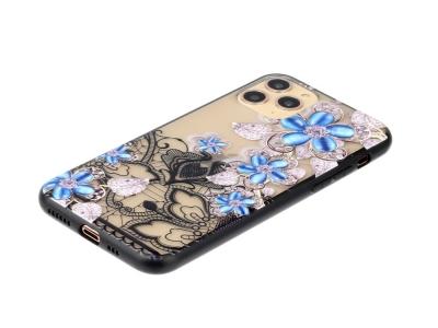Удароустойчив гръб Lace Flower за Iphone 11 Pro Max, Сини цветя