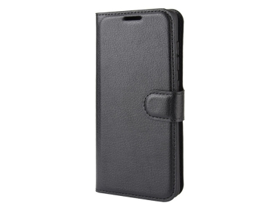 Калъф тефтер Litchi за Samsung Galaxy A41, Черен