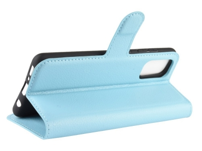 Калъф тефтер Litchi за Samsung Galaxy A41, Светло син