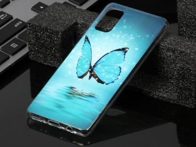 Силиконов гръб за Samsung Galaxy A41, Синя пеперуда