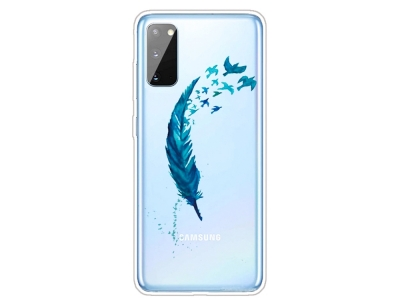 Силиконов гръб за Samsung Galaxy A41, Пера