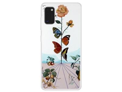 Силиконов гръб за Samsung Galaxy A41, Цветя и Пеперуди