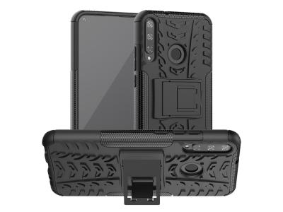 Удароустойчив гръб с поставка Hybrid за Huawei P40 lite E/Y7p/Honor 9C, Черен