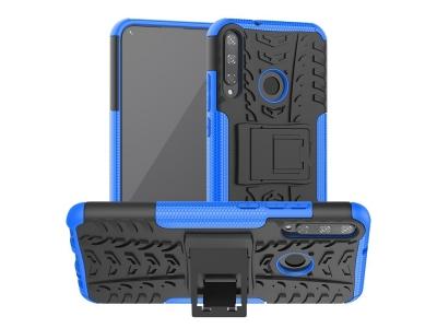 Удароустойчив гръб с поставка Hybrid за Huawei P40 lite E/Y7p/Honor 9C, Син
