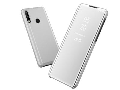 Калъф Тефтер View Window Mirror за Huawei P40 lite E / Y7p, Сребрист