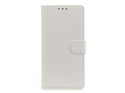 Калъф Тефтер Litchi Grain за Huawei Y5p/Honor 9S, Бял