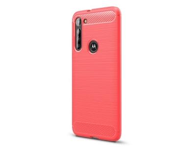 Силиконов гръб Carbon за Motorola Moto G8 Power, Червен