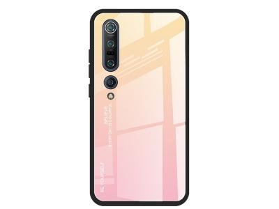 Стъклен гръб Glass за Xiaomi Mi 10 / Mi 10 Pro, Жълт-Розов