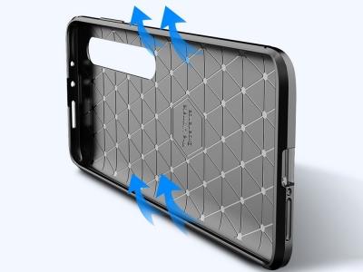 Силиконов гръб Beetle Carbon за Xiaomi Mi 10/Mi 10 Pro, Черен