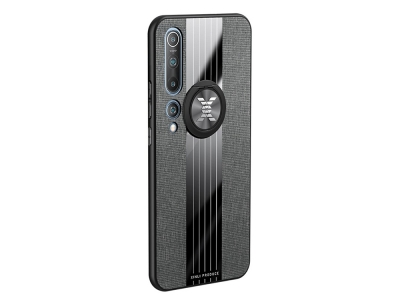 Удароустойчив Гръб Metal Kickstand за Xiaomi Mi 10/Mi 10 Pro, Черен