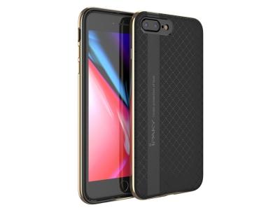 Силиконов гръб Ipaky Bumblebee за iPhone 7 Plus / 8 Plus, Черен-Златист